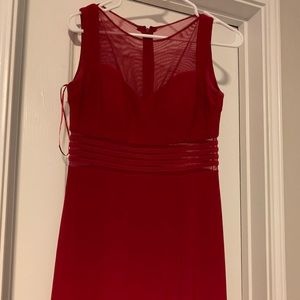 Long Red Slip Dress
